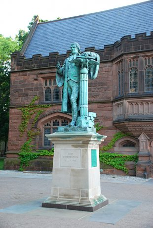 John Witherspoon statue (near Chancellor Green)-John Witherspoon - Princeton University statue (medium sized photo)